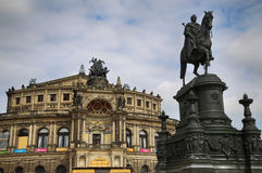 DRESDEN, GERMANY – AUGUST 13, 2016: Statue of King Johann and Stock Image