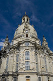 Dresden, Germany. The Frauenkirche in Dresden, Germany, reconstructed after destruction in WWII, Church Of Our Lady Royalty Free Stock Images