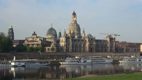 April morning on the Elbe. View of the Academy of Arts. Dresden, Germany