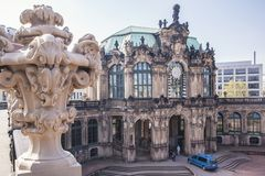 Dresden, Germany, April 24, 2019 - View of the Zwinger royalty free stock photography