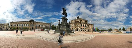 Dresden, Germany - August 4, 2017: The Opera House is a highlight of the architectural ensemble of the Theater Square of the Saxon Stock Photography