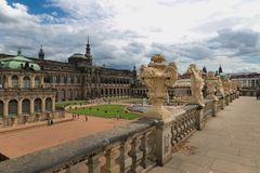 Dresden, Germany - August 4, 2017: Zwinger - late German Baroque, founded in the early 18th century. a complex of four magnificent Stock Images