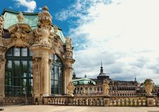 Dresden, Germany - August 4, 2017: Zwinger - late German Baroque, founded in the early 18th century. a complex of four magnificent Stock Image