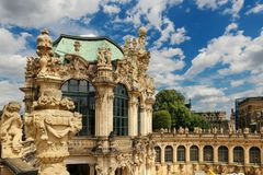 Dresden, Germany - August 4, 2017: Zwinger - late German Baroque, founded in the early 18th century. a complex of four magnificent Stock Photos