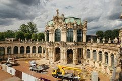 Dresden, Germany - August 4, 2017: Zwinger - late German Baroque, founded in the early 18th century. a complex of four magnificent Royalty Free Stock Photography