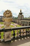Dresden, Germany - August 4, 2017: Zwinger - late German Baroque, founded in the early 18th century. a complex of four magnificent Stock Photography
