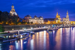 Dresden Germany. Dresden, Germany cityscape over the Elbe River Royalty Free Stock Photos