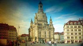 DRESDEN, GERMANY : Dresden Frauenkirche literally Church of Our Lady. Is a Lutheran church in Dresden, Germany Royalty Free Stock Photography