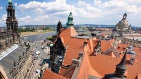 dresden germany enorm panorama Arkivfoto