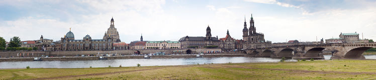 dresden germany enorm panorama Arkivbilder