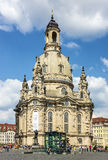 Dresden, Germany. Frauenkirche Cathedral church Stock Image