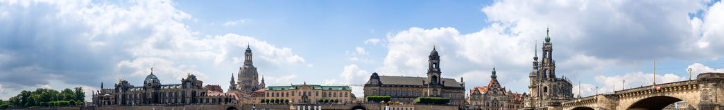 dresden germany härlig panorama- sikt Arkivfoton