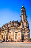 Dresden, Germany - Hofkirche Stock Images