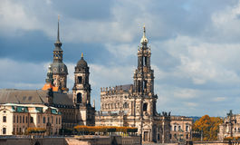 Dresden, Germany. Hofkirche and Residenzschloss Royalty Free Stock Photo