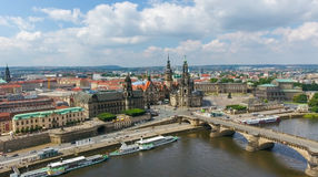 DRESDEN, GERMANY - JULY 16, 2016: Aerial view of Altstadt. Dresd Royalty Free Stock Image