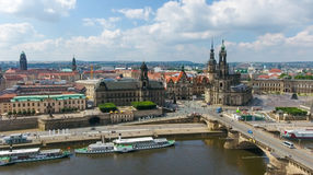 DRESDEN, GERMANY - JULY 16, 2016: Aerial view of Altstadt. Dresd Stock Image