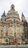 Dresden, Germany, july 10, 2018. Unidentified tourists visit the old historical part of the city. Dresden Zwinger - an architectural complex in Dresden in the stock photography