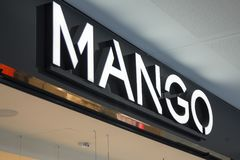 MANGO store sign Stock Images