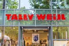 Tally Weijl store sign stock images