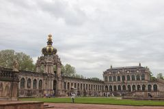 Dresden. Germany. Kinds of the city. Crown Gate royalty free stock photo