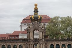 Dresden. Germany. Kinds of the city. Crown Gate stock photo
