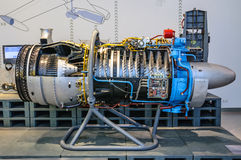 DRESDEN, GERMANY - MAI 2015: Airplane Jet Engine Turbine in Dres Royalty Free Stock Image