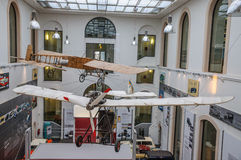 DRESDEN, GERMANY - MAI 2015: ancient flying machine with propell Stock Images