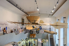DRESDEN, GERMANY - MAI 2015: ancient flying machine with propell Stock Photo