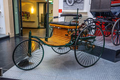 DRESDEN, GERMANY - MAI 2015: Benz Patent Motor Car 1886 in Dresd Stock Photography