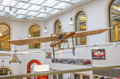 DRESDEN, GERMANY - MAI 2015: Early Airplane Bleriot XI 1909 in D Stock Photos
