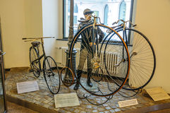 DRESDEN, GERMANY - MAI 2015: penny-farthing Dresdner 1888, Eurek Royalty Free Stock Photography