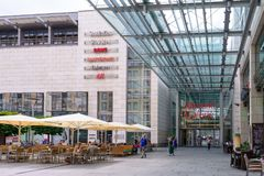DRESDEN, GERMANY - MAY 2017: Shopping center stock photography