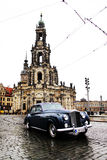 DRESDEN, GERMANY - MAY 10: Street view of the Catholic Church of the Royal Court of Saxony Stock Image