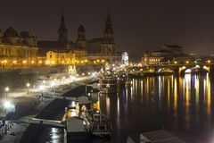 Dresden germany at night Stock Photos