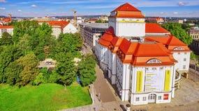 DRESDEN GERMANY-SEPTEMBER 08, 2015: Histoirical mitt av Dresden den gamla staden Dresden har en lång historia som huvudstaden och Arkivbilder