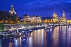 Dresden, Germany Skyline Royalty Free Stock Image