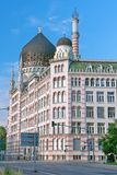 DRESDEN, GERMANY: The Yenidze building. Vertical photo. Royalty Free Stock Photo