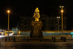 Dresden Golden Rider Outdoors Monument in Winter Overcast Weathe Royalty Free Stock Photography