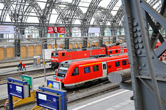 Dresden Hauptbahnhof - train platform Royalty Free Stock Images