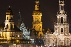 Dresden germany at night Stock Photo