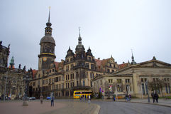 Dresden historic square Royalty Free Stock Images