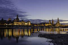 Dresden historical skyline Royalty Free Stock Photography