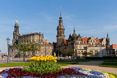 Dresden. Historical town with church and castle Royalty Free Stock Images