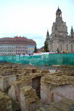 Dresden historiskt mittåterställande Royaltyfri Fotografi