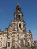 Dresden Hofkirche Fotografía de archivo libre de regalías