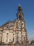 Dresden Hofkirche Stock Photo