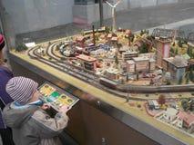 Dresden huvudsaklig järnvägsstation, Tyskland Royaltyfria Bilder
