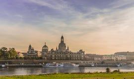 Dresden i aftonen Royaltyfri Foto