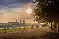 Dresden i aftonen Royaltyfria Foton