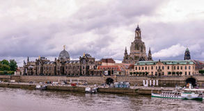 Dresden. Image of Dresden, Germany with Elbe River in the foregr Royalty Free Stock Images